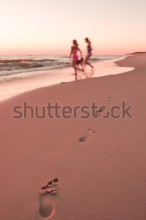 Girls on the beach Stock photo © mobi68