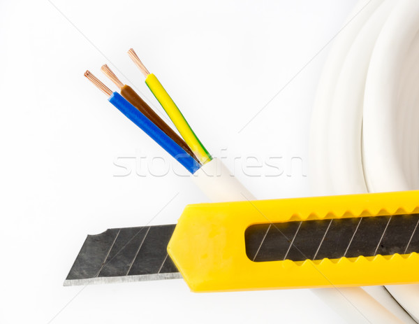 Power cable and knife Stock photo © mobi68