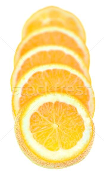 Foto stock: Naranja · rebanadas · cinco · alimentos · frutas