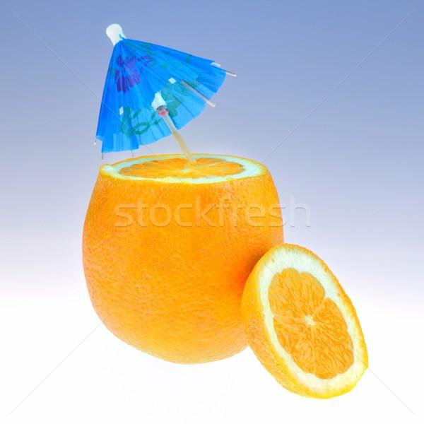 Naranja cóctel paraguas alimentos frutas Foto stock © mobi68