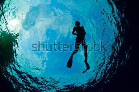 Карибы кристалл девушки солнце спорт морем Сток-фото © MojoJojoFoto