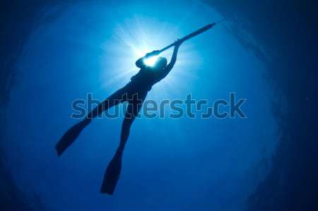 Tropicales jeune femme subaquatique fille sport Photo stock © MojoJojoFoto