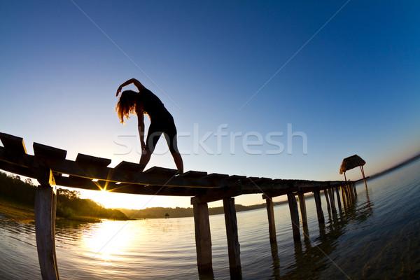 morning yoga Stock photo © MojoJojoFoto