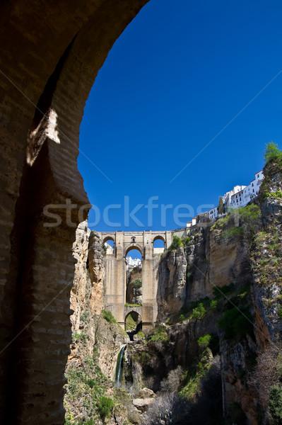 Ruines incroyable pont coup à l'intérieur Espagne Photo stock © MojoJojoFoto