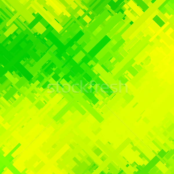 Green and Yellow Glitch Background Stock photo © molaruso