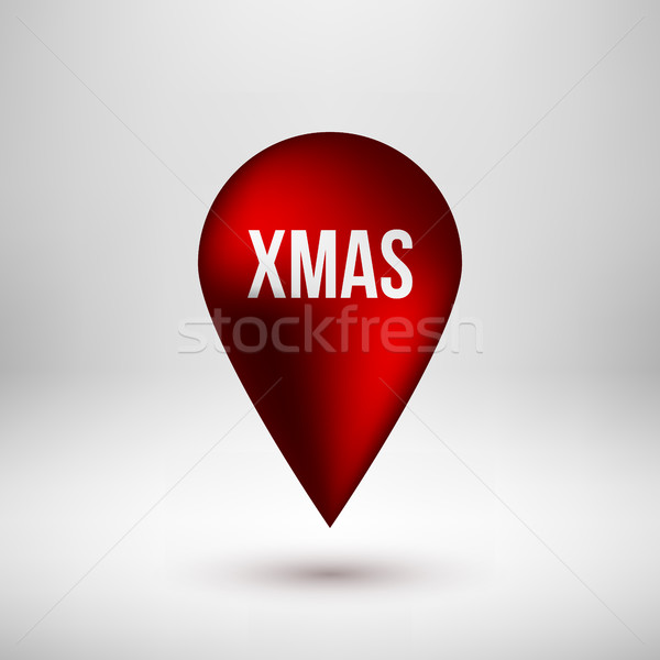 Red Bubble Map Pointer Badge Stock photo © molaruso