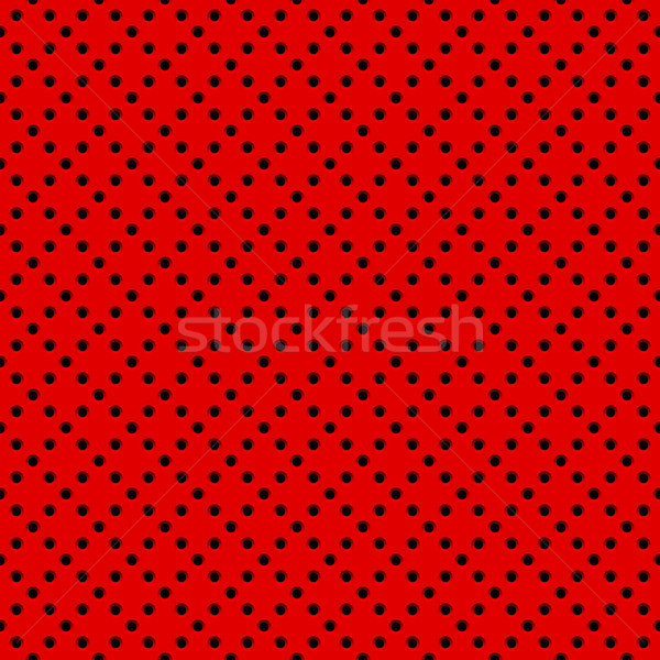 Stock photo: Red Background with Perforated Pattern