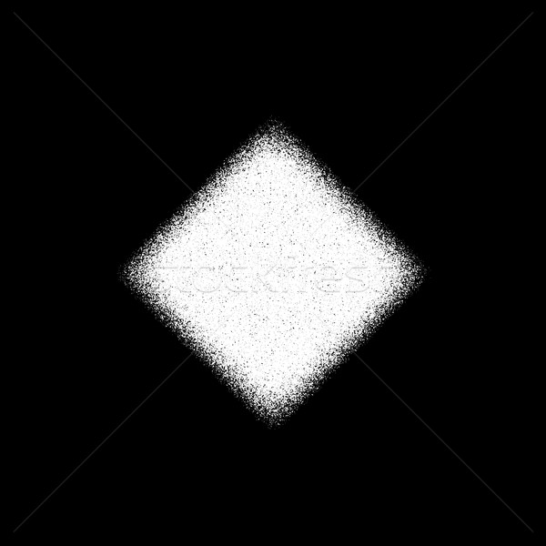 White Grain Rhombic Badge Stock photo © molaruso