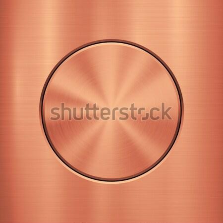 Bronce metal tecnología resumen círculo pulido Foto stock © molaruso