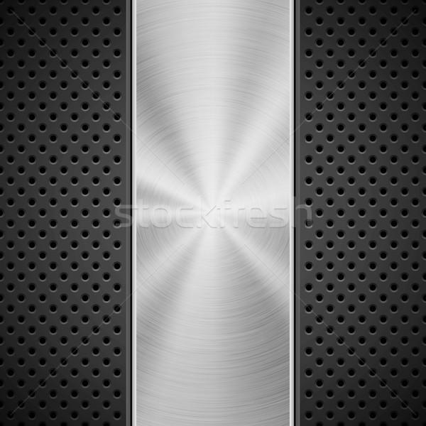 Siyah model teknoloji cilalı ortak merkezli Stok fotoğraf © molaruso