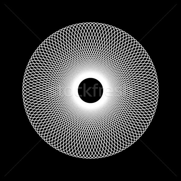 Witte abstract fractal vorm technologie zwarte Stockfoto © molaruso