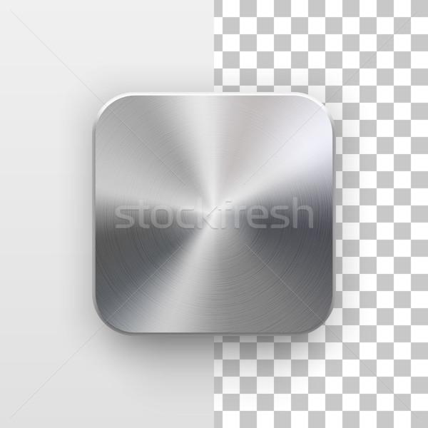 Aplicativo ícone modelo textura do metal metal tecnologia Foto stock © molaruso
