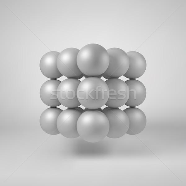 White Abstract Polygonal Shape Stock photo © molaruso