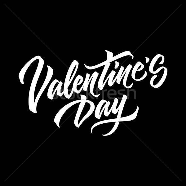 Saint valentin badge calligraphie conception de logo concepts Photo stock © molaruso
