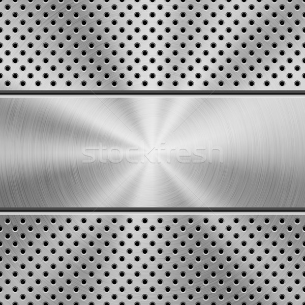 Metal Background with Perforated Pattern Stock photo © molaruso