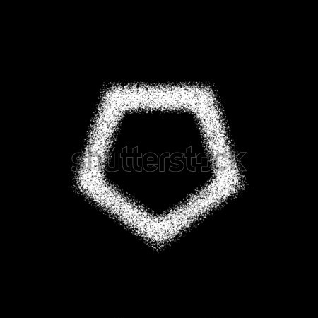 White Abstract Polygon Badge Stock photo © molaruso