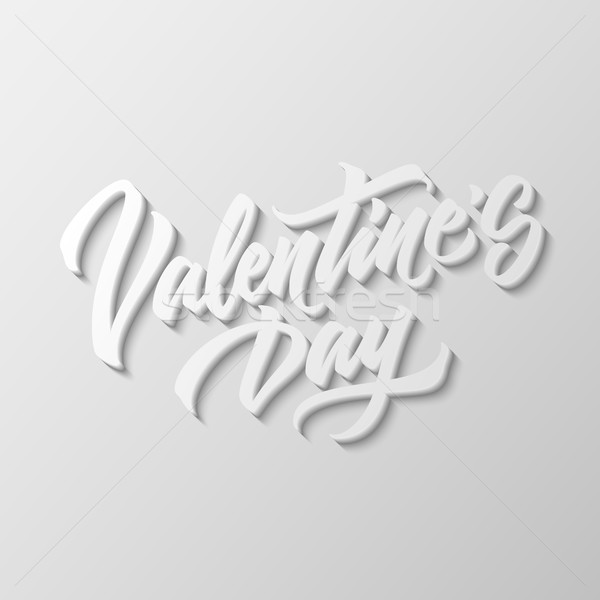 Valentines Day Lettering Badge Stock photo © molaruso
