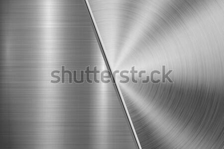 Fém technológia körkörös egyenes csiszolt textúra Stock fotó © molaruso