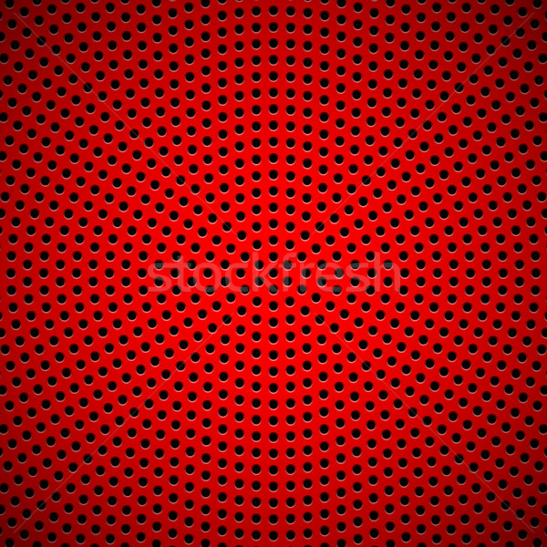 Red Background with Circle Perforated Pattern Stock photo © molaruso
