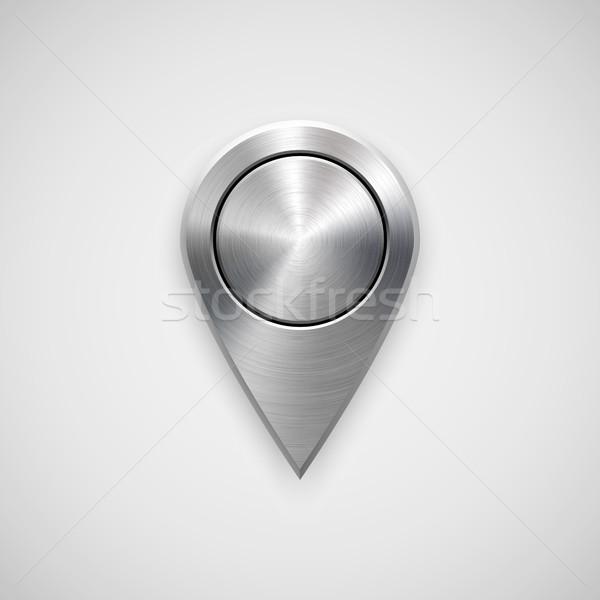 Technologie GPS carte badge bouton modèle Photo stock © molaruso