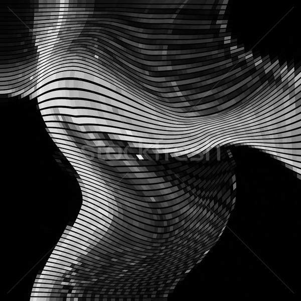 抽象的な 効果 ランダム 波 黒白 モノクロ ストックフォト © molaruso