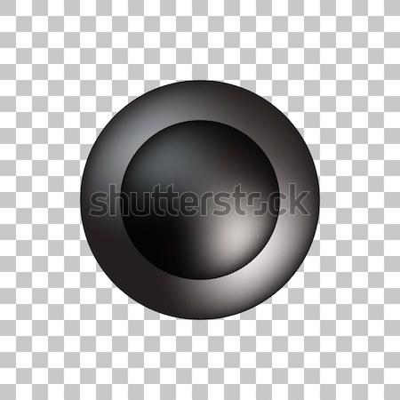 Siyah kabarcık ikon rozet ışık prim Stok fotoğraf © molaruso