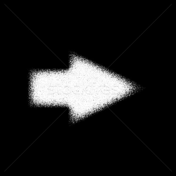 White Abstract Right Arrow Sign Stock photo © molaruso