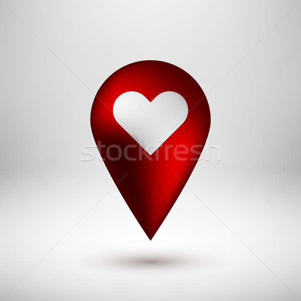 красный пузыря карта Знак аннотация GPS Сток-фото © molaruso