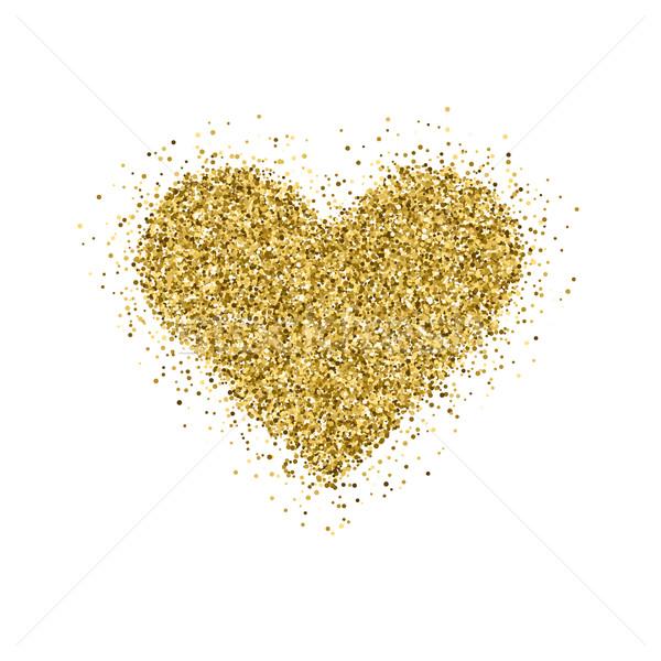 Ouro brilho árvore de natal dia dos namorados coração assinar Foto stock © molaruso