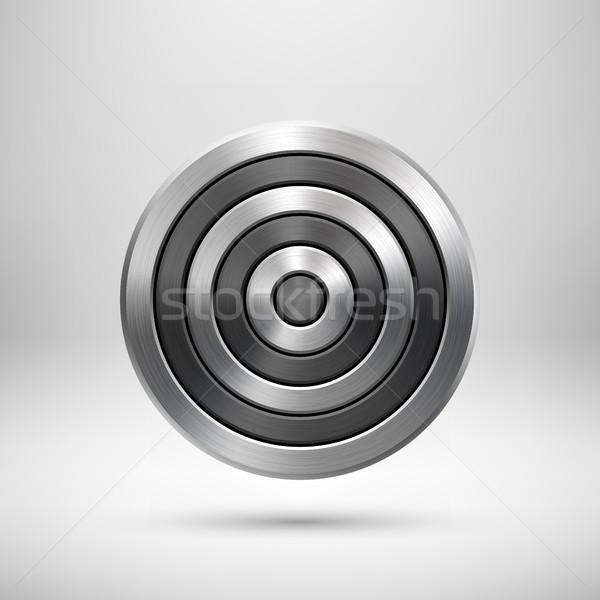 抽象的な 技術 サークル 金属 バッジ 幾何学的な ストックフォト © molaruso