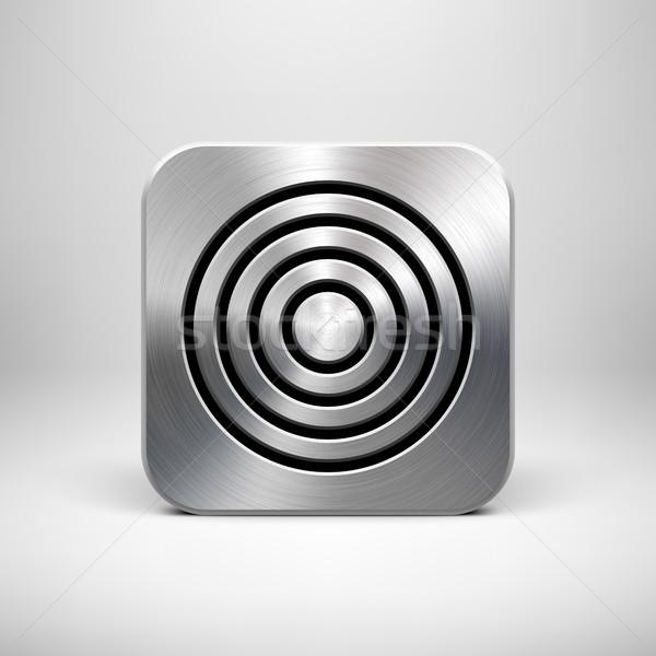 金属 技術 アプリ アイコン テンプレート ボタン ストックフォト © molaruso
