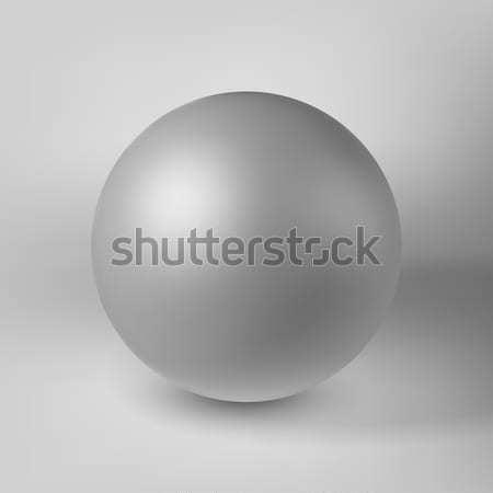 Witte abstract vorm bol bal parel Stockfoto © molaruso