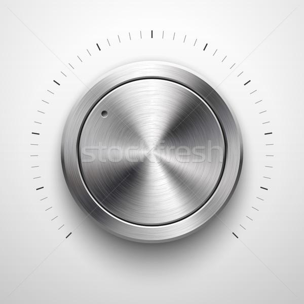 抽象的な 技術 ボリューム ボタン テンプレート ストックフォト © molaruso