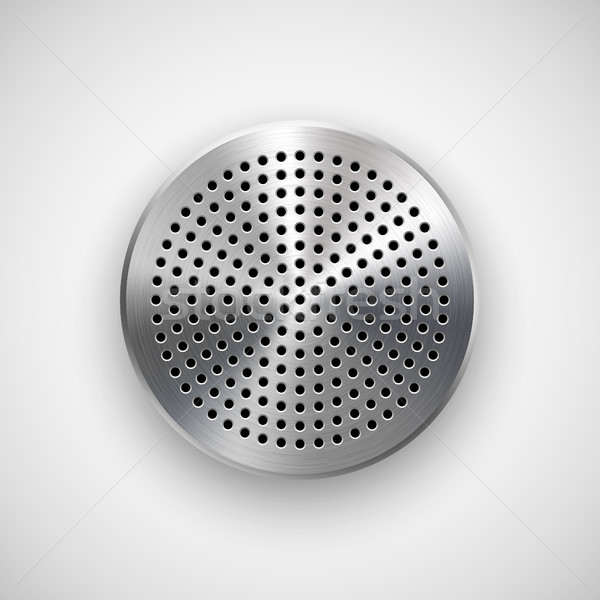 Abstrato círculo botão modelo distintivo Áudio Foto stock © molaruso