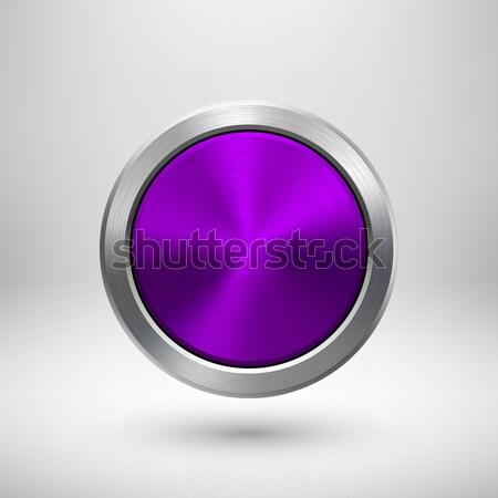 バイオレット 技術 サークル 金属 バッジ 紫色 ストックフォト © molaruso