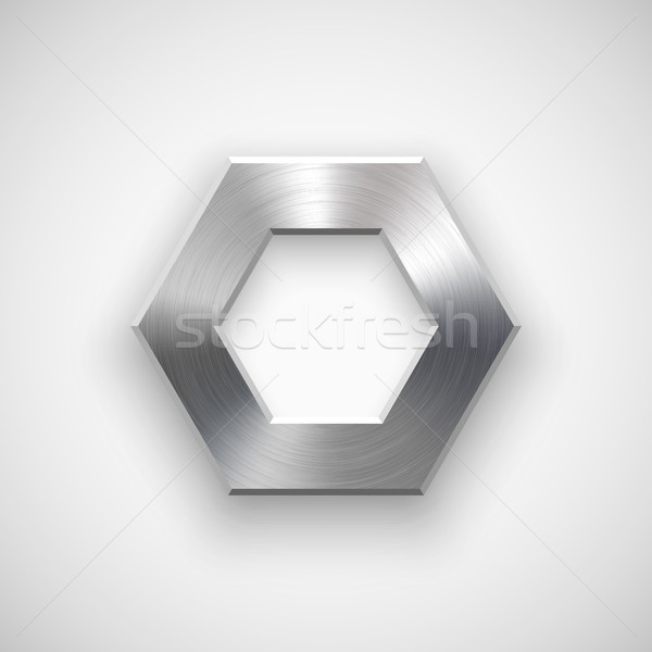 Abstract polygon Button Template Stock photo © molaruso