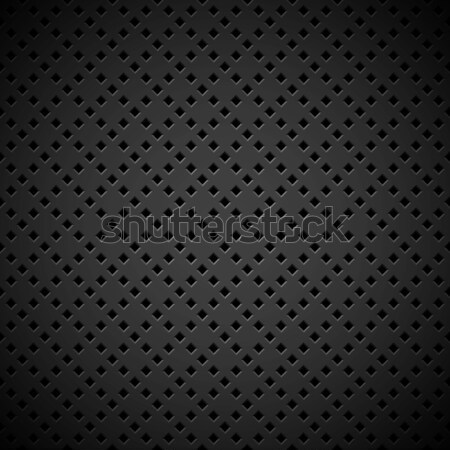 Stock photo: Black Background with Perforated Pattern