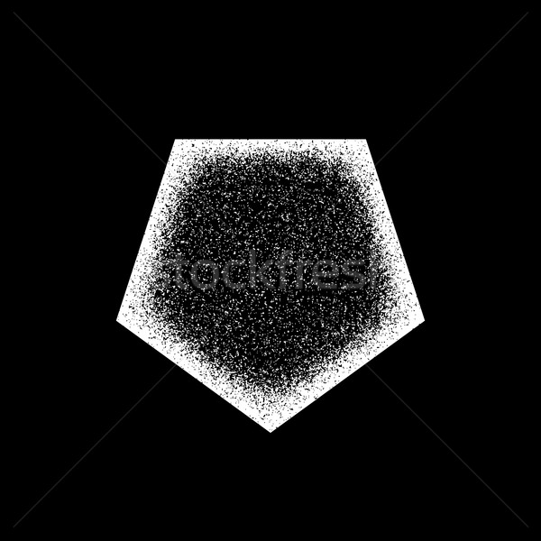 White Abstract Geometric Badge Stock photo © molaruso