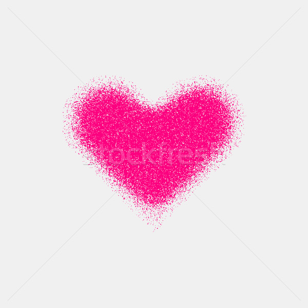 Magenta Abstract Heart Sign with Grain Texture Stock photo © molaruso