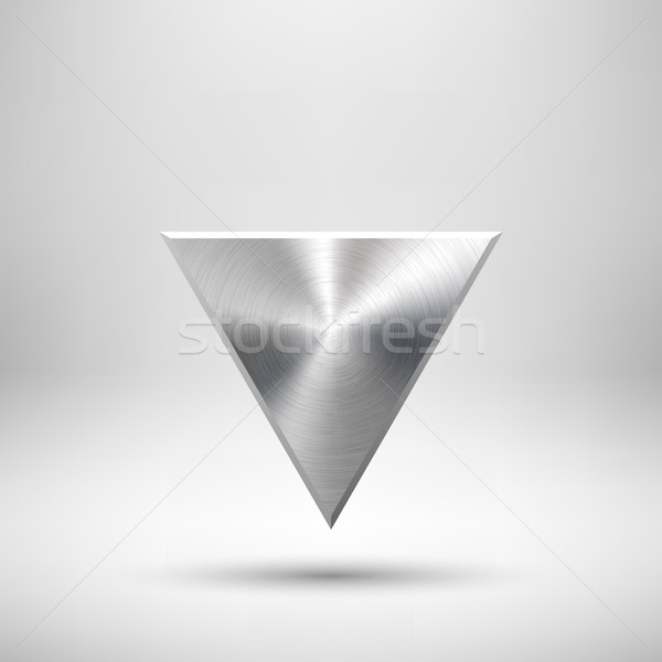 Abstract Triangle Button Template Stock photo © molaruso