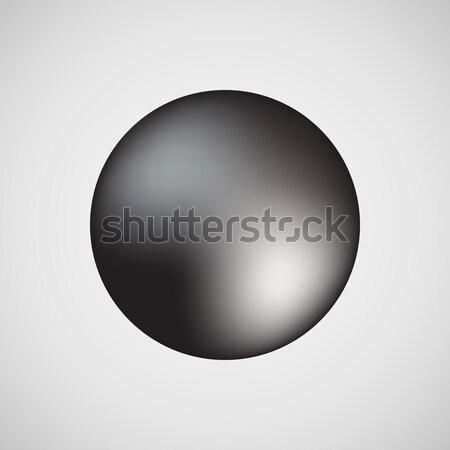Preto bolha ícone distintivo luz prêmio Foto stock © molaruso