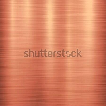 Bronz fém technológia csiszolt fém textúra króm Stock fotó © molaruso