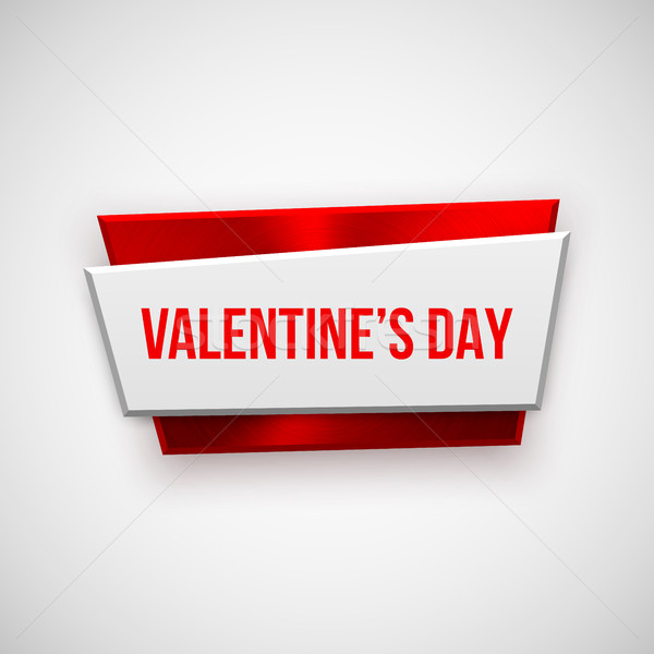 Red Abstract Valentines Day Badge Stock photo © molaruso