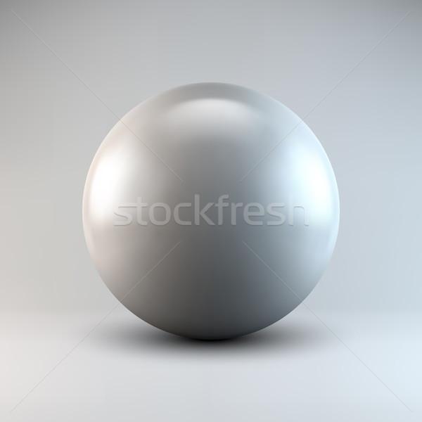 白 抽象的な 球 ボール 真珠 ストックフォト © molaruso