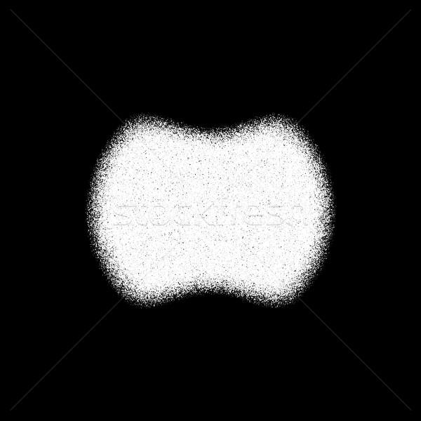Fehér absztrakt kitűző sablon mértani forma Stock fotó © molaruso