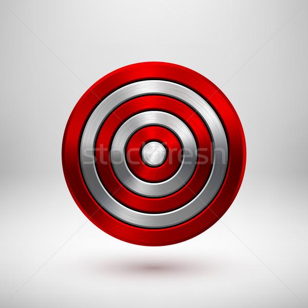 красный технологий круга металл Знак аннотация Сток-фото © molaruso