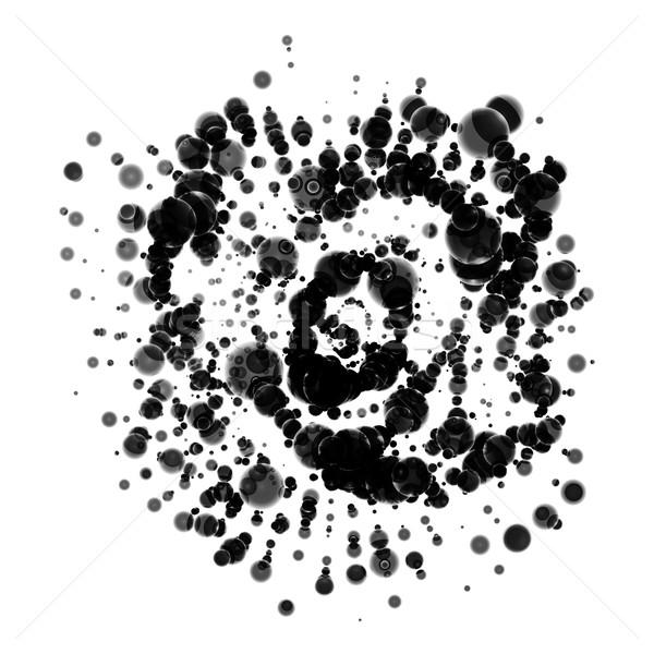 Streszczenie przestrzeni cząstki przypadkowy chaos realistyczny Zdjęcia stock © molaruso