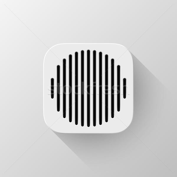 Foto stock: Branco · tecnologia · aplicativo · ícone · modelo · abstrato