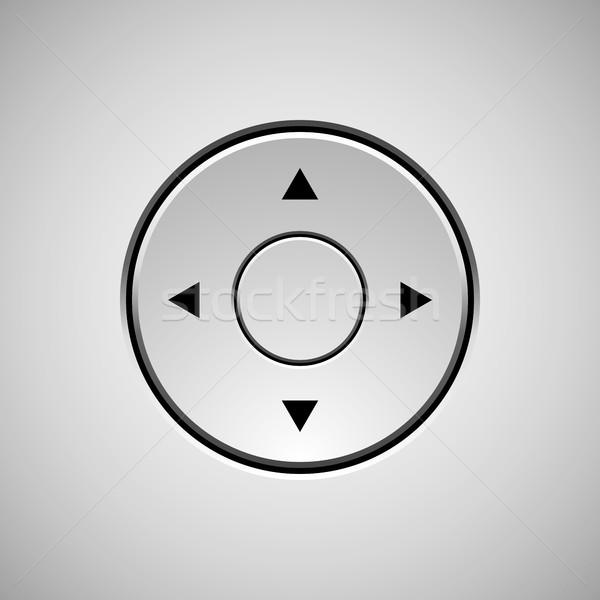 Blanco círculo placa resumen botón plantilla Foto stock © molaruso