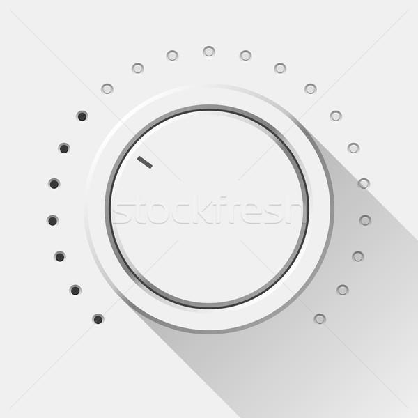 Blanche technologie volume musique bouton Photo stock © molaruso